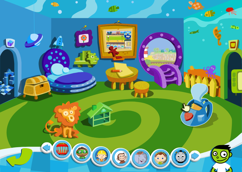 This web site, from nick jr, contains links to several interactive games featuring blue of the show blue s clues